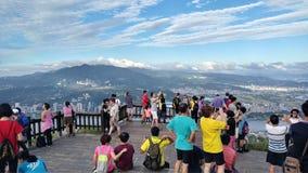 Vue de montagne et de rivière de gars durs de crête de Guanyin belle, Taiwa Photo stock