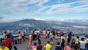 Vue de montagne et de rivière de gars durs de crête de Guanyin belle, Taiwa Photographie stock