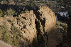 Vue de montagne le Colorado de Cheyanne Images libres de droits