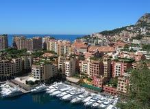 Vue de Monte Carlo, Monaco Images libres de droits