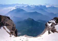 Vue de Monte Pelmo Images libres de droits
