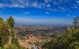 Vue de Monte Titano, Italie Images stock