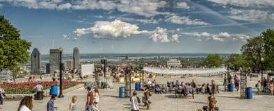 Vue de Montréal images libres de droits