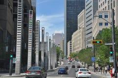 Vue de Montréal du centre Images stock