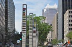 Vue de Montréal du centre Photographie stock