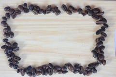 vue de mosaïque de Café-haricot Images libres de droits