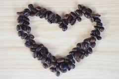 vue de mosaïque de Café-haricot Photos stock