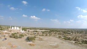 Vue de mosquée d'Abassi de fort de Derawar banque de vidéos