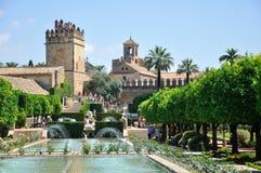 Vue de mosquée d'Alcazar et de cathédrale de Cordoue Images libres de droits