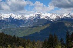 Vue de Mt, Triglav - la plus haute montagne slovène Images libres de droits