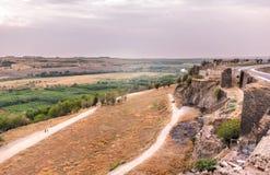 Vue de mur historique dans la région de Sur, Diyarbakir, Turquie image libre de droits