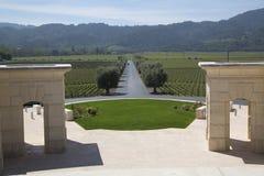 Vue de Napa Valley d'établissement vinicole de l'opus un photos stock