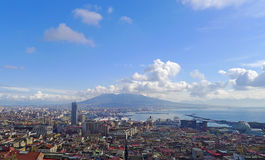 Vue de Naples, Italie Photographie stock