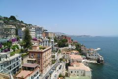 Vue de Naples de Posillipo Photographie stock