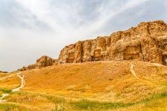 Vue de Naqsh-e Rustam Panoramic Images libres de droits