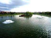 Vue de nature dans Kentpark, Eskisehir Images stock