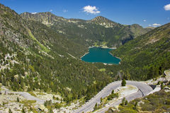 Vue de nature dans Pyrénées français Images libres de droits