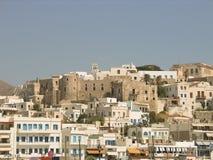 Vue de Naxos Île grecque dans Cyclades Image stock