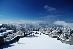 Vue de neige de MT.Emei Images stock