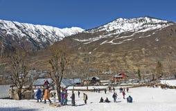 Vue de neige de Sonamarg chez le Cachemire Photo libre de droits