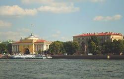 Vue de Neva River dans le St Petersbourg Image libre de droits
