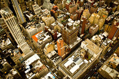 Vue de New York City Photos stock