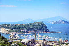 Vue de Nisida, île, Napoli, Italie Photos libres de droits