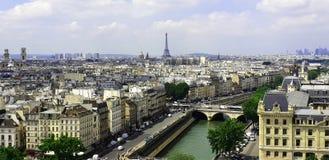 Vue de Notre Dame de Paris images libres de droits