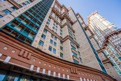 Vue de nouveaux bâtiments résidentiels et voisinages à Moscou photos stock