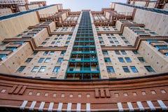 Vue de nouveaux bâtiments résidentiels et voisinages à Moscou image stock