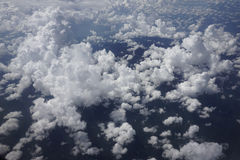 Vue de nuage d'un avion Photo stock