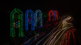 Vue de nuit à Guilin Images libres de droits