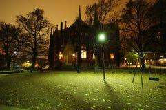 Vue de nuit à Helsinki Photos stock