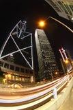 Vue de nuit à Hong Kong image libre de droits