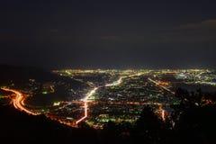 Vue de nuit à la région de Seisho, Kanagawa, Japon Images libres de droits