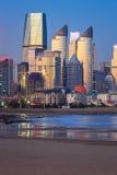 Vue de nuit à Qingdao Image libre de droits