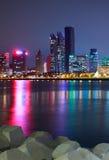 Vue de nuit à Qingdao de la Chine Photo libre de droits