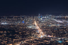 Vue de nuit à San Francisco photos libres de droits