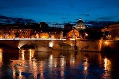 Vue de nuit à San Pietro Image libre de droits