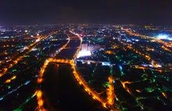 Vue de nuit de baie de la rivière de Taïwan photos stock