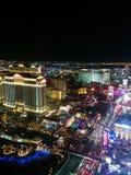 Vue de nuit de bande de Las Vegas, lumières du nord Image stock