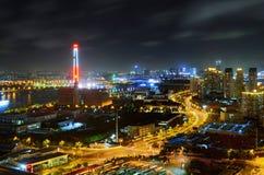 Vue de nuit de Changhaï Image libre de droits