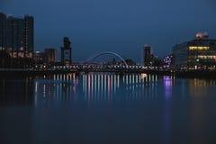 Vue de nuit de Clyde Arc Photographie stock libre de droits