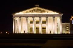 Vue de nuit d'opéra d'Astana Images stock
