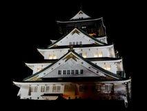Vue de nuit d'Osaka-Jo le ch?teau d'Osaka images libres de droits