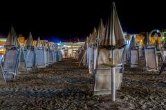 Vue de nuit d'un bathouse Photographie stock