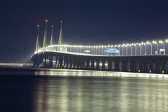 Vue de nuit de 2ème pont de Penang, George Town Penang Photos libres de droits