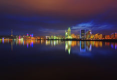 Vue de nuit de Bakou Images libres de droits