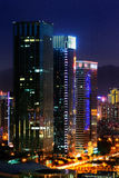 Vue de nuit de CBD, Shenzhen Images libres de droits
