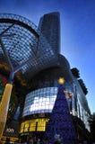 Vue de nuit de décoration de Noël à la route de verger de Singapour Image libre de droits